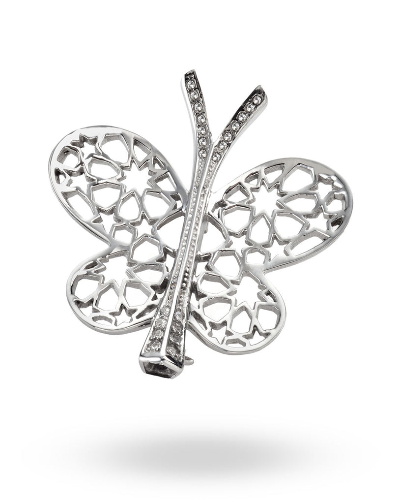 Stainless Steel Butterfly Brooch