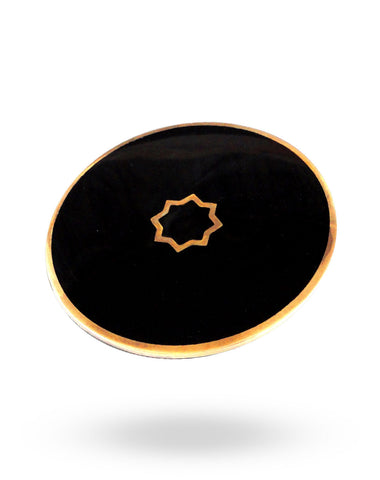 Gold & Black Roundabout Ring