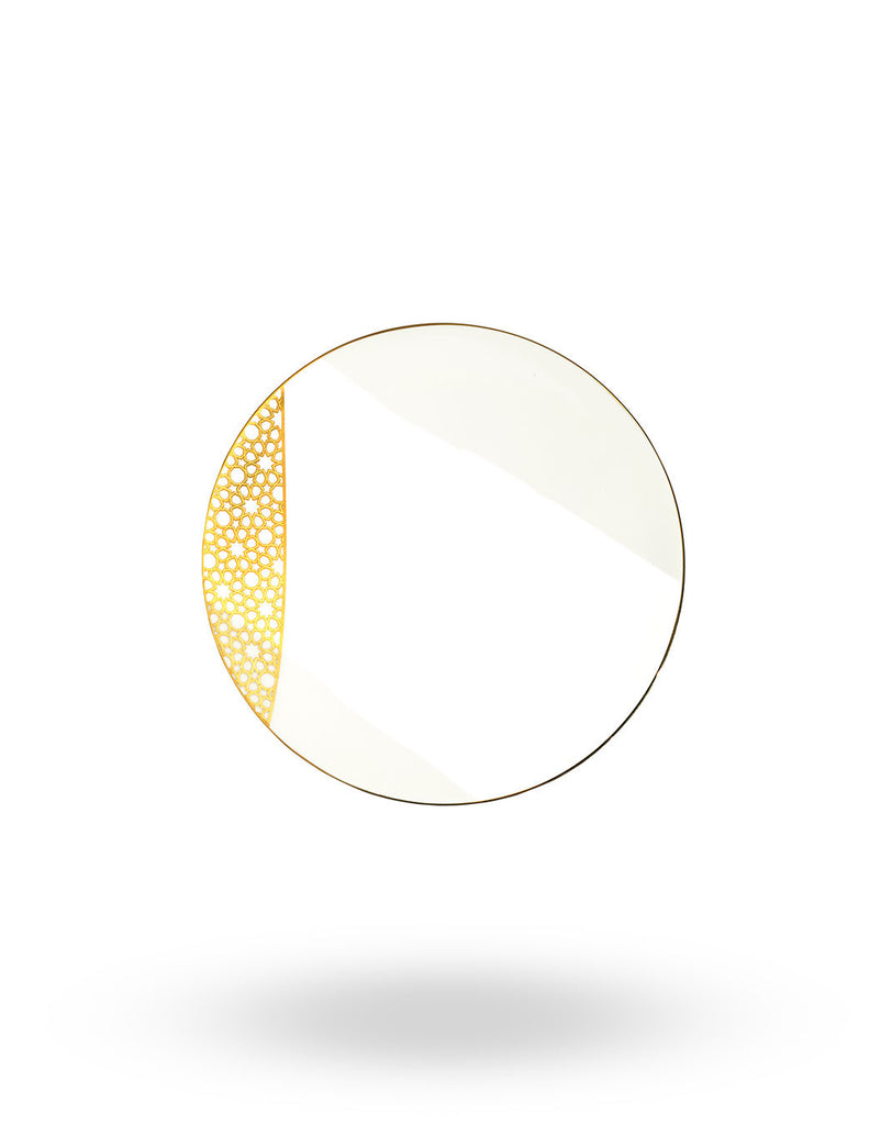 Gold Arabesque Bread & Butter Plate