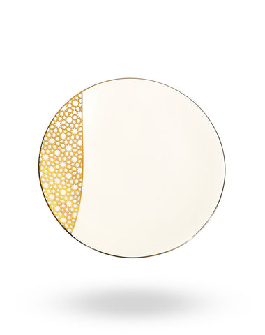 Gold Arabesque Dinner Plate