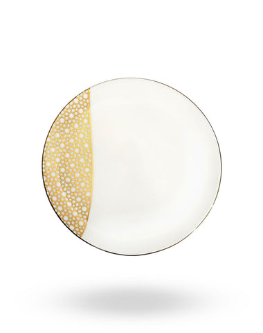 Gold Arabesque First Course Plate
