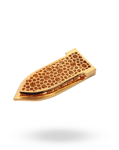 Gold Arabesque Money Clip