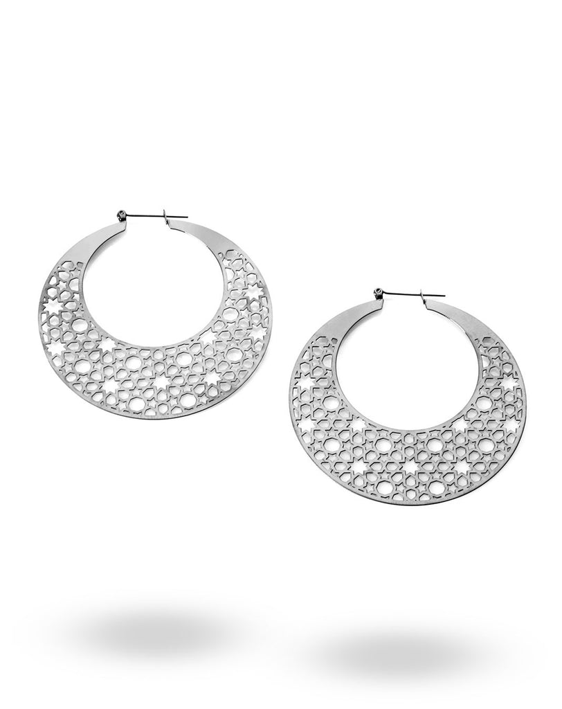 Stainless Steel Crescent Earrings