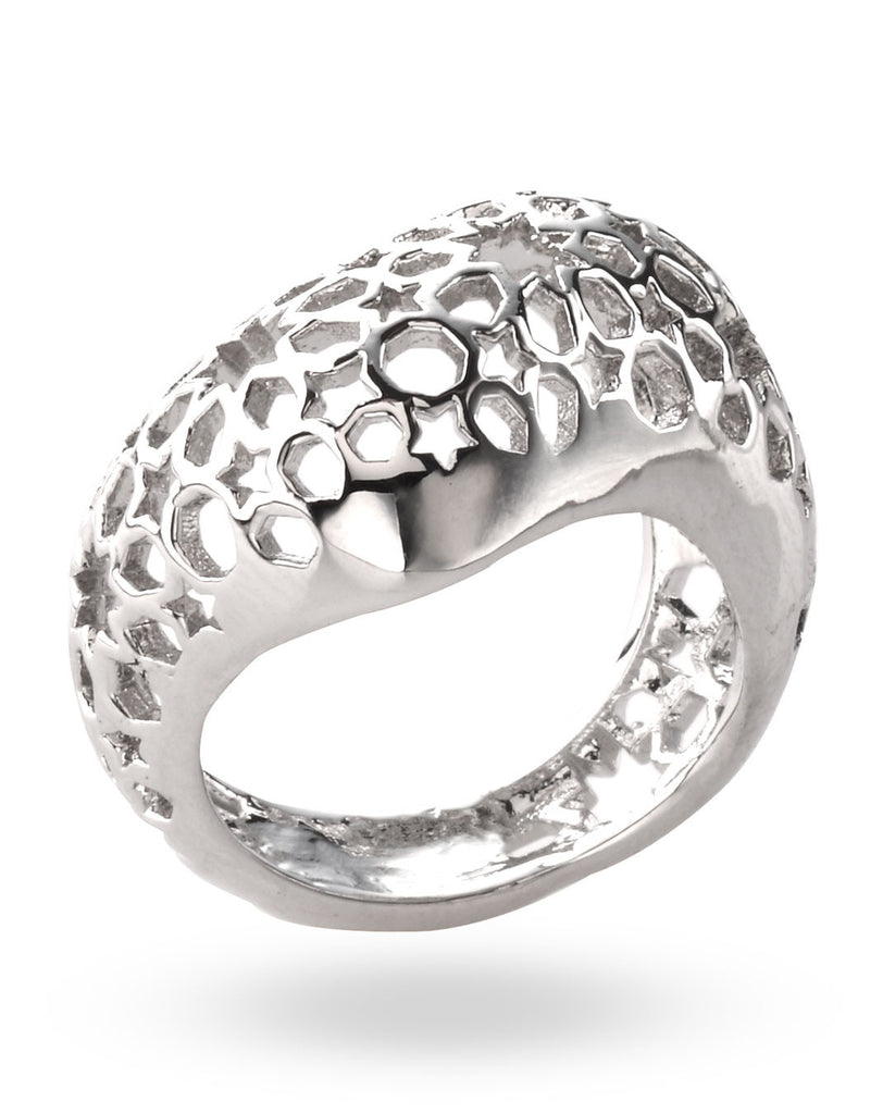 Stainless Steel Bombai Ring