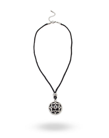 Stainless Steel & Black Heart Necklace