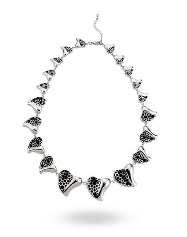 Stainless Steel & White Necklace