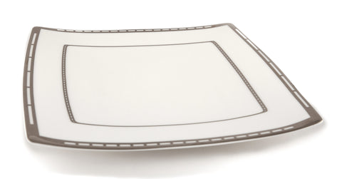 "Platinum Jacob's Ladder Plate -  10.8"" x 10.6"" set of 6 pcs"