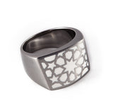 Stainless Steel White Lama Ring