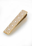 Gold & White Arabesque Tie Clip