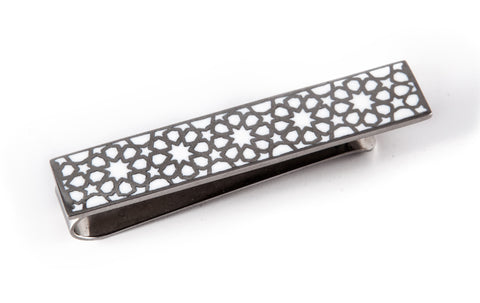 Gold & Black Arabesque Tie Clip