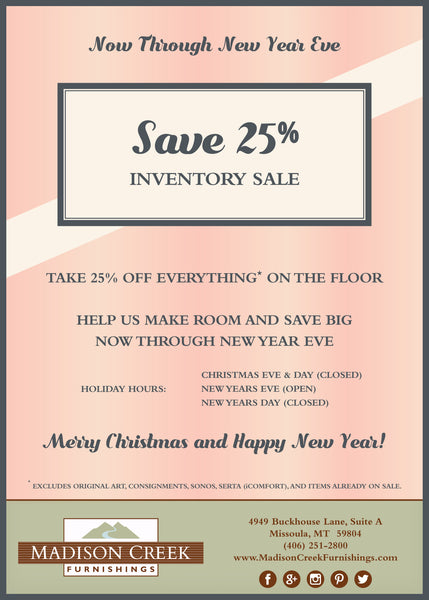 End of Year Inventory Sale