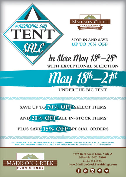 2018 TENT SALE - Save up to 70%