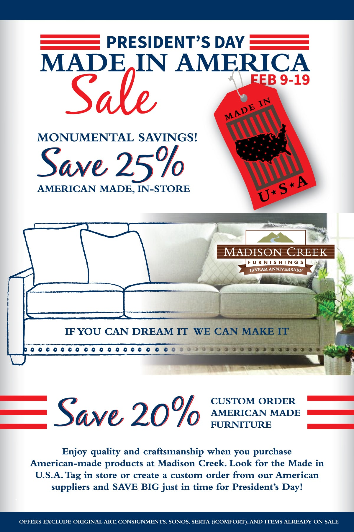 Presidents day furniture sale 2018