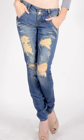 Catch Me if You Can Distressed Skinny Jeans 3129