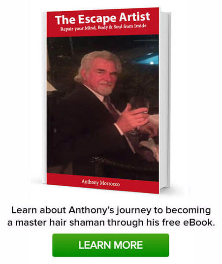 Learn About Anthony's journey to becoming a master hair shaman through his free eBook