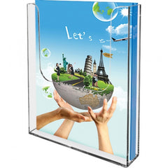 Leaflet Dispensers  -Free standing & wall mounting portrait Single pocket  Min Order 10 Units