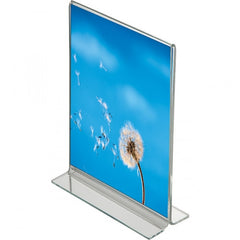 MENU / LEAFLET T SHAPED FREE STANDING  HOLDERS (excl vat) MIN ORDER 10 UNIT