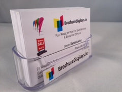 SPECIAL OFFER BUSINESS CARD HOLDER FREE STANDING only €1.10 each --PACKS OF 10 ---(ex vat )