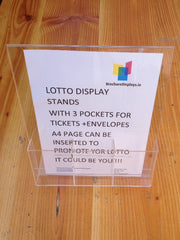 LOTTO DISPLAY STANDS