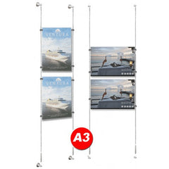 POSTER HOLDER CABLE DISPLAY A3 KIT(ex Vat)