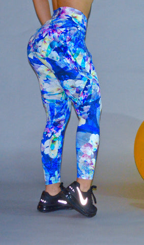 Floral Legging with skirt covering