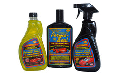 Perma-Seal Professional Package: Clear Coat Formula Hand Glaze, High Gloss Detail Spray & Wash Concentrate