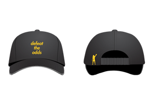 """defeat the odds"" Hat (Black)"