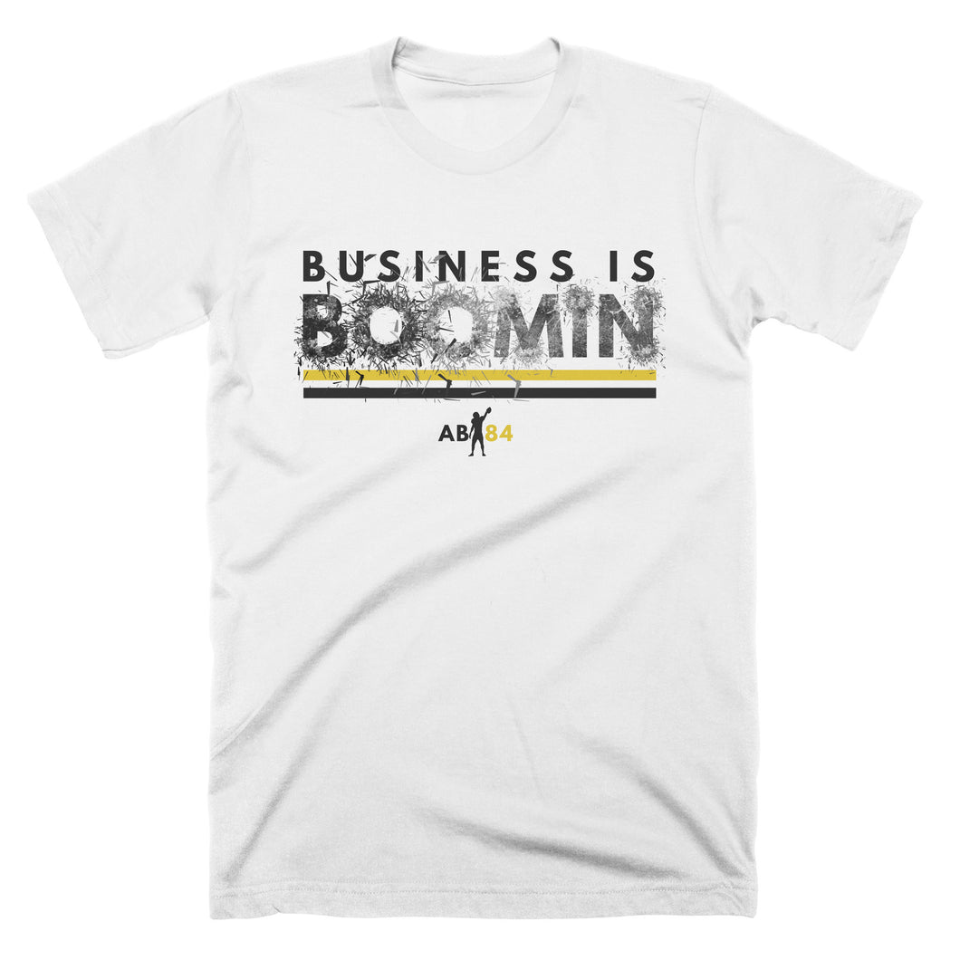 PRESALE : Adult Business is Boomin Shatter T-Shirt (white)