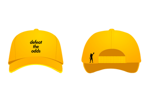 """defeat the odds"" Hat (Gold)"