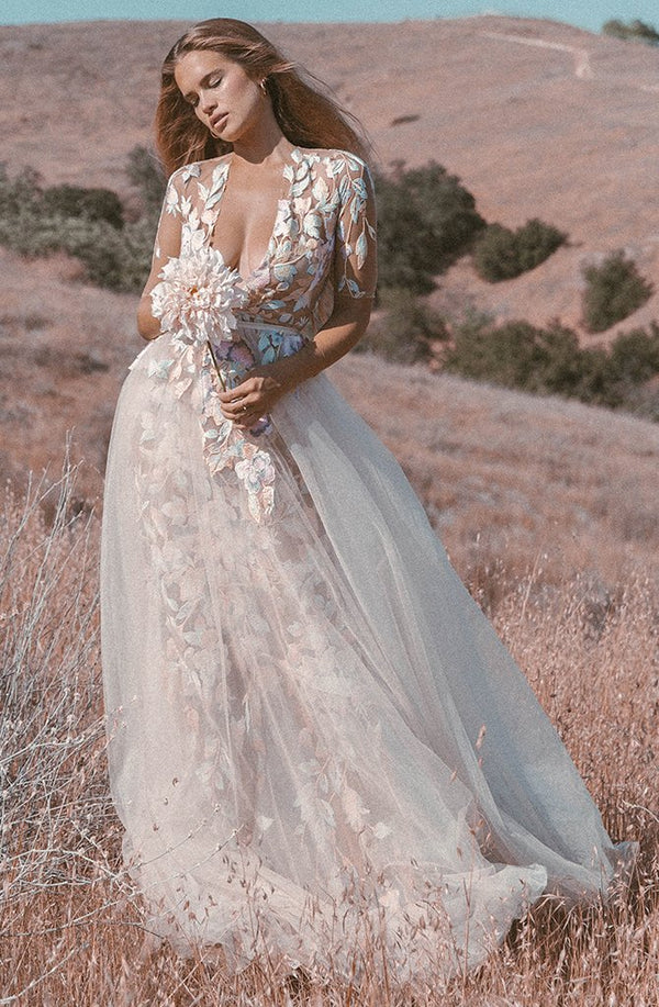 Dahlia Embroidered Gown