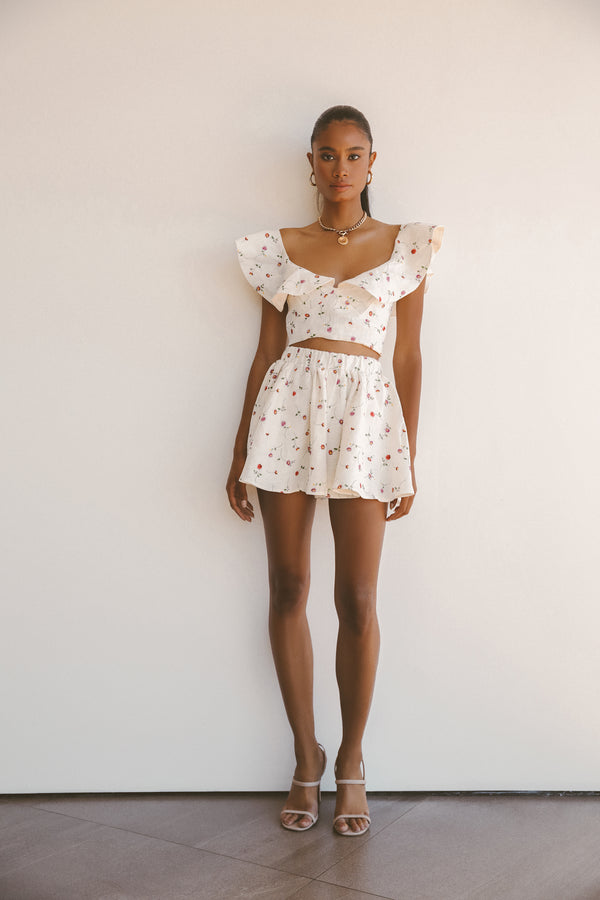 DAISY LINEN SHORT SET - Lurelly