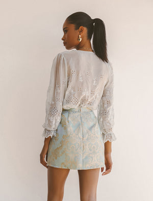 REMA SILK BLOUSE (LIMITED EDITION) (MINT) Thumbnail - Lurelly