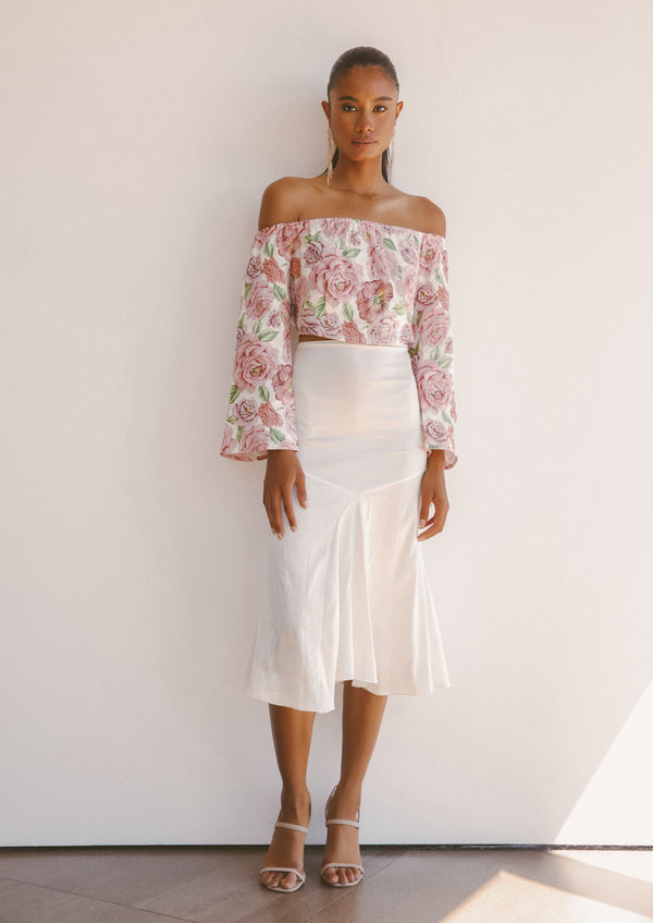 NAOMI SILK SKIRT - Lurelly