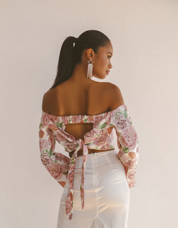 FLORAL LINEN TOP - Lurelly