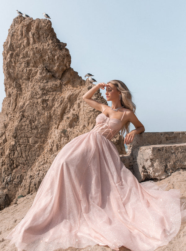 ARETHA GOWN (BLUSH) - Lurelly