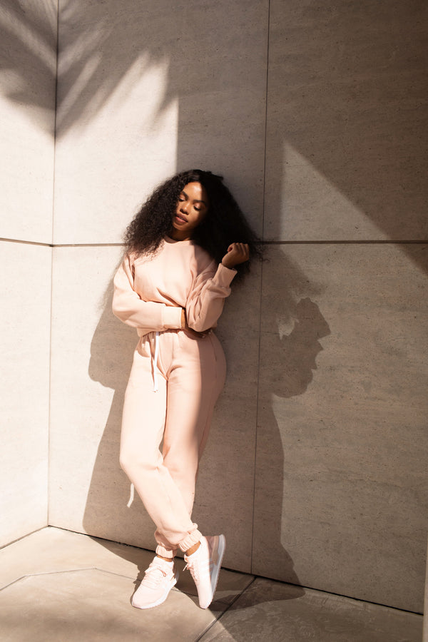 MIMI SWEATPANTS BLUSH - Lurelly