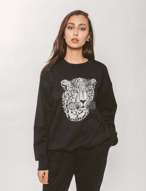 CRYSTAL LEOPARD SWEATSHIRT Thumbnail - Lurelly