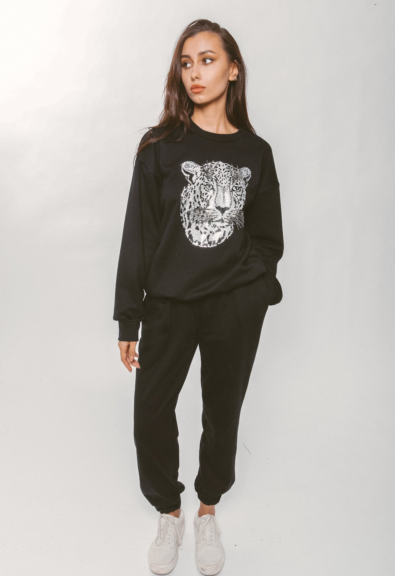 CRYSTAL LEOPARD SWEATSHIRT - Lurelly
