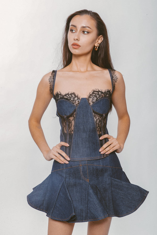 DENIM CORSET - Lurelly