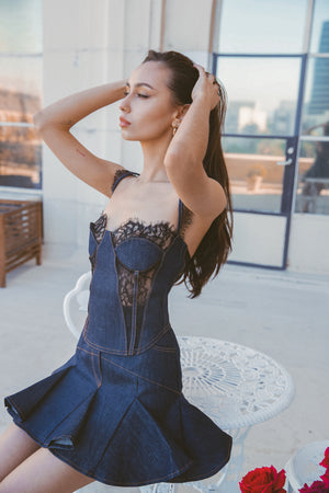 DENIM CORSET Thumbnail - Lurelly