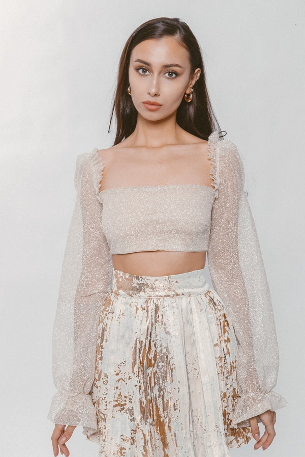 SHIMMER CROP TOP - Lurelly