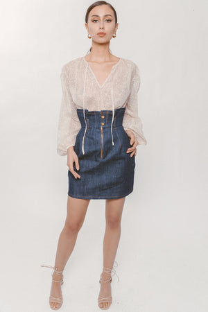 RIV DENIM SKIRT Thumbnail - Lurelly