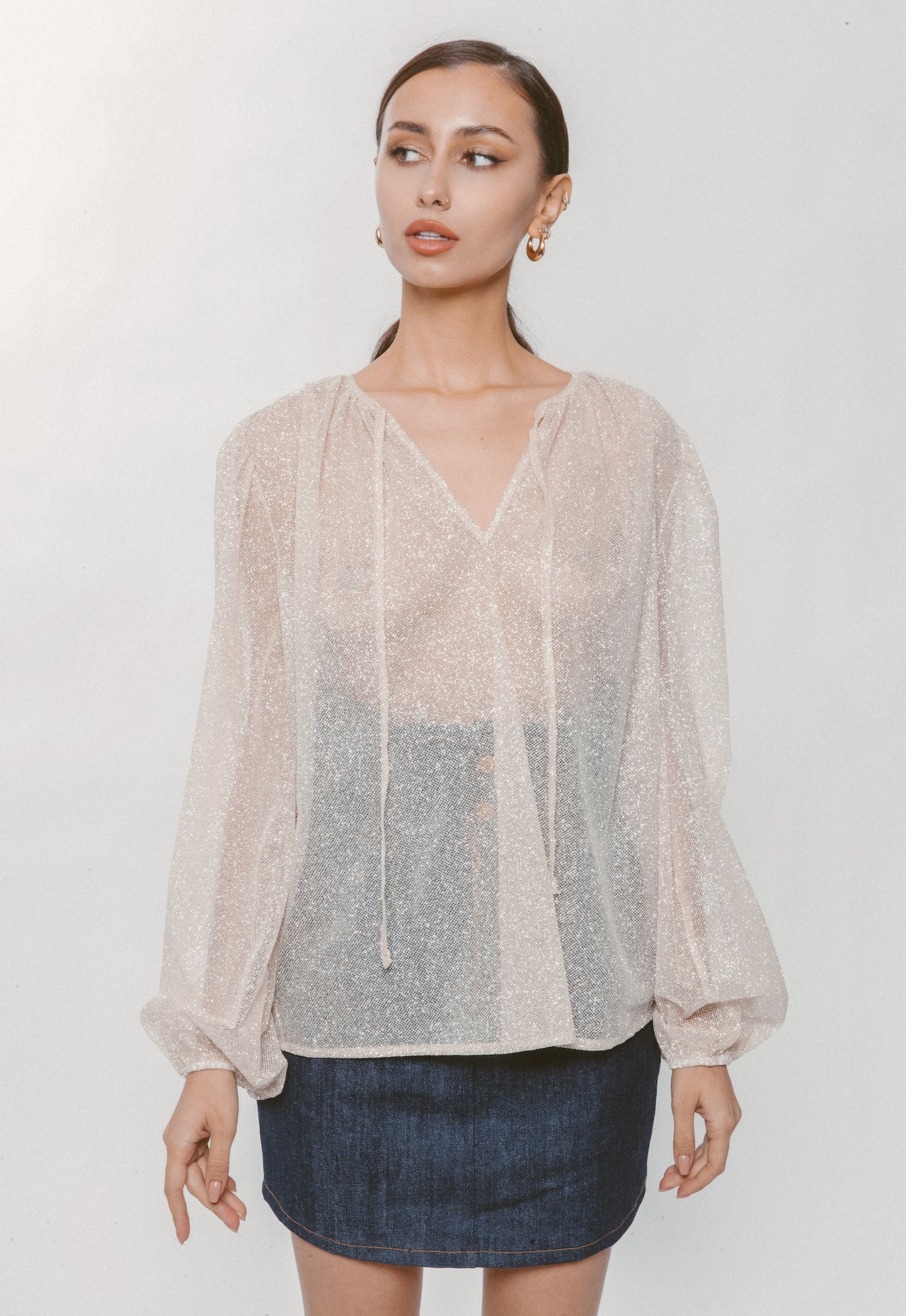SPARKLY TULLE BLOUSE - Lurelly