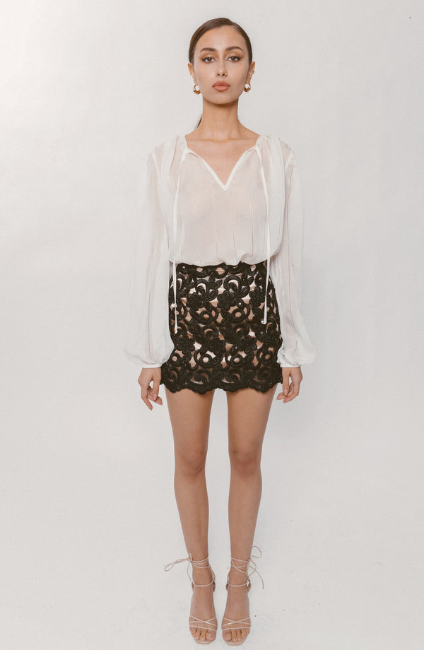 3D LACE SKIRT - Lurelly