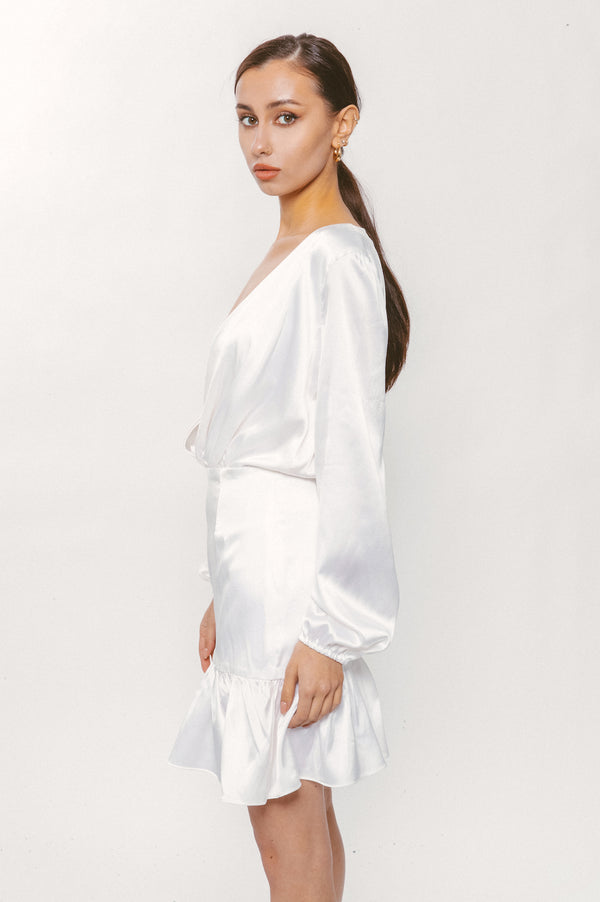 MIRROR SILK DRESS - Lurelly
