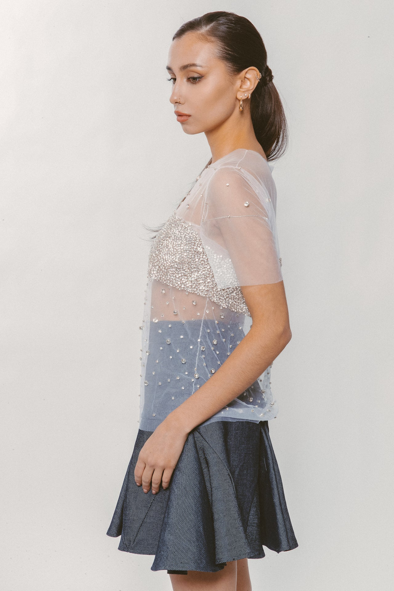 MOONLIGHT JEWELED BLOUSE - Lurelly