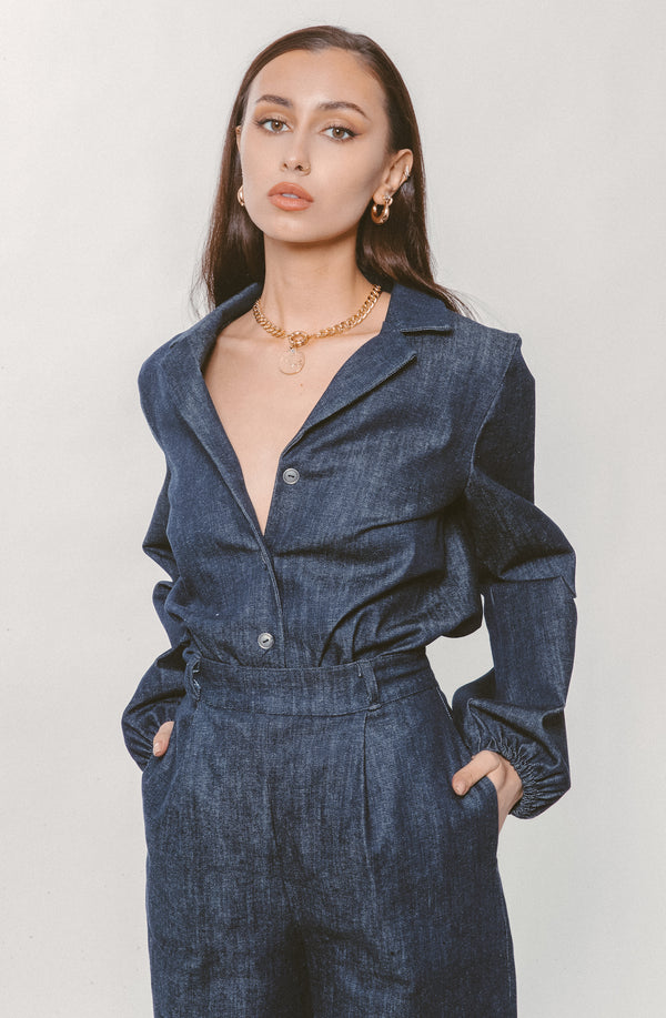DENIM BUTTON DOWN - Lurelly