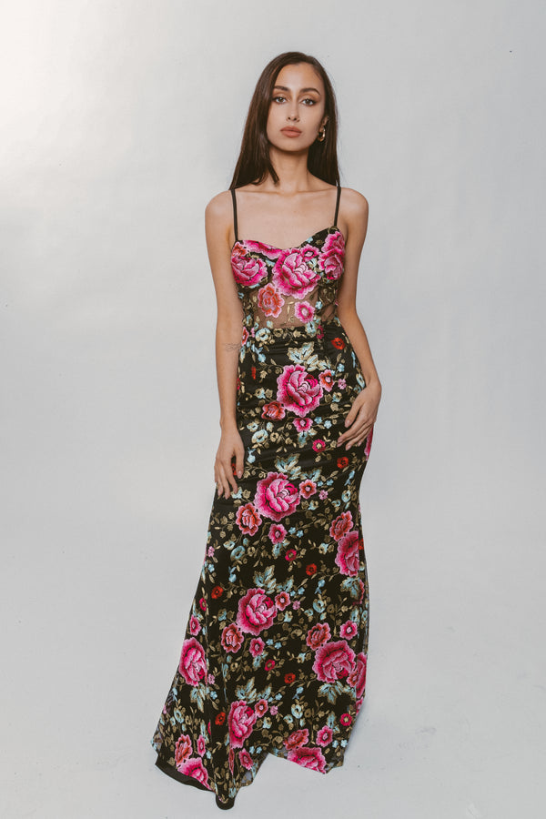 ROSE FLORAL GOWN - Lurelly