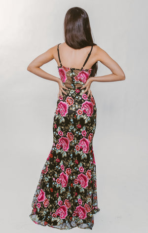 ROSE FLORAL GOWN Thumbnail - Lurelly