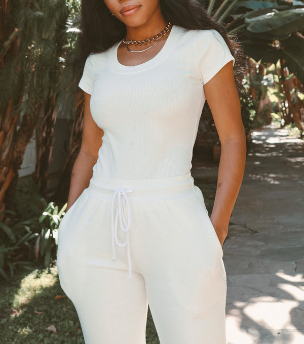 KATE RIBBED TEE - Lurelly